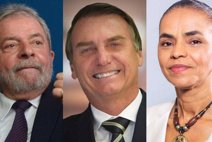 Sem Lula, Bolsonaro e Marina lideram nova pesquisa